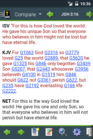 Bible version comparison